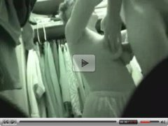 Hidden cam - titfuck in dressing room