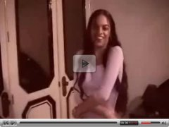 Indian girl dancing - amateur striptease
