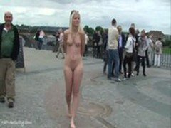 Hot blonde sandra naked on public streets