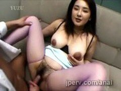Hairy Japanese secretary with hot big jugs gets pumped at work