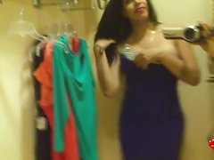 TS Vivian Black in the fitting room