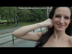 Pretty babe has real public fuck adventure