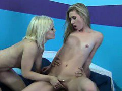 Three lovely blonde ladies sucking and fucking lucky dicks.