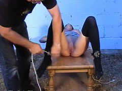 Nipple training and tit torture of busty slave Danii Black