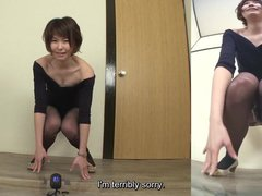 Japanese woman fails to hold in pee Subtitled