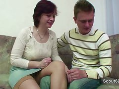 mother Seduce German not Step-Son to Fuck her