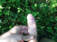 Jerking, moaning and shooting cum in the forest #4