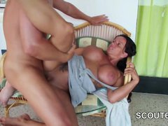 German Mother fucks 18yr old Step-Son 2 Times