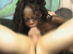 Black Ghetto Slut Face Fucked And Gagging On White Dick