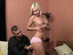 Blonde in a blow job