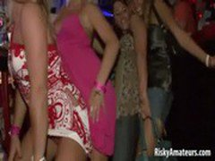 Wild amateur sluts dancing dirty at the night club