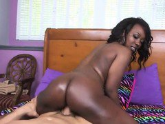 Ebony Goddess Skyler Booty Claps On Married White Mans Lap