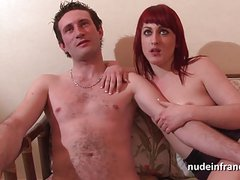 Amateur casting couch french redhead hard anal fucked