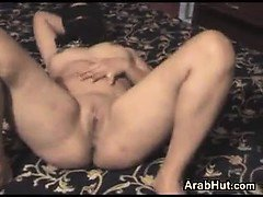 Arab Wearing A Hijab Strips And Teases