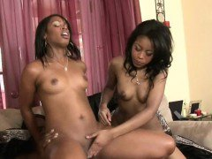 Big Booty Black Ghetto Sluts Sharing Dick In Threesome