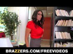 Sexy big-tit Latina Librarian Missy Martinez fucked hard at work