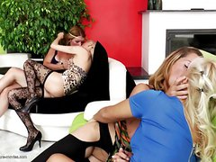 Perfect lesbian group sex with moms and young girls