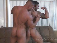 Ball Licking gay muscle sex