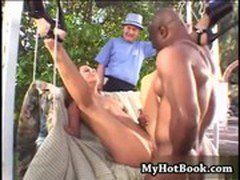 Blonde MILF  Kitty Monroe has heard that black guy
