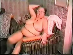 Very old fat granny having fun. Amateur older
