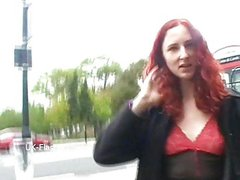Redhead flasher Monicas public masturbation and milf babes