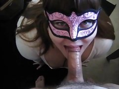 BBW Head #446 Thick Busty Masked Mommy on her Knees!