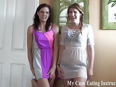 Caught jerking off and now you have to eat your cum CEI