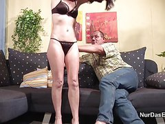 71yr old Hairy Granny fucks with German Step-Dad in Casting