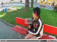 Young Teen In Public