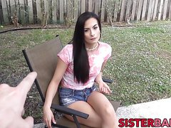 Alexis gets tricked to blow her stepbro