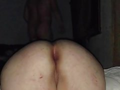Anal cream pie of a fat piggy