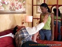 Young black beauty gets seduced