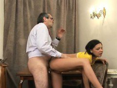 Wicked girls are having lusty drilling with teacher