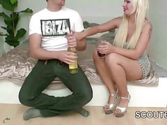 German Sister Seduce him to Fuck her First Time After Party