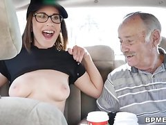 Old Men Celebrate with Horny Teen
