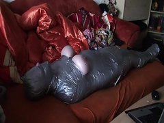 sub wrapped in Tape and with vibrator under wrapping