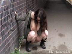 Brummie Babe Pissing in Public