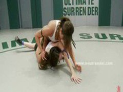 Teen lesbians with small panties fight