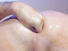 close up:: plugged, streched, gape and fist anal hole!!!