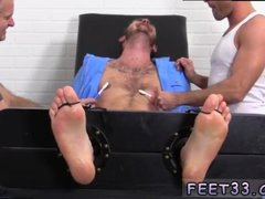 Gay male soldiers foot worship Officer