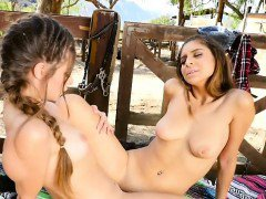 Hot Lesbian Schoolgirls Make Each Other Squirt