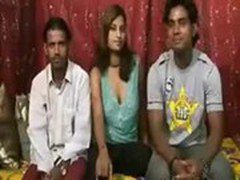 Indian _ Desi_ Pregnat  Babe With  Two Gys