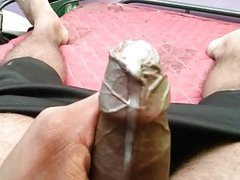 Playing with my Indian Tamil Cock and making it leak Cum