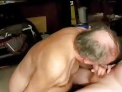 Gay old men sucking a other old men