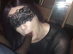 crossdresser - sissy  - bbc - DEEP THROAT