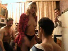 Beautiful amateur groupsex having a slender woman that is E