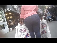 Retro Capture: Wide Phat Booty Walking After Shopping