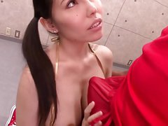lovely Japanese milf enjoys black cocks