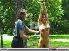 A Vintage Backyard Whipping of Buxom Girl