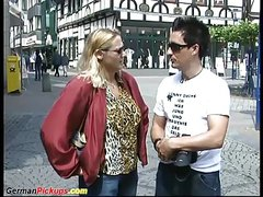 german Milf picked up for sex in nature